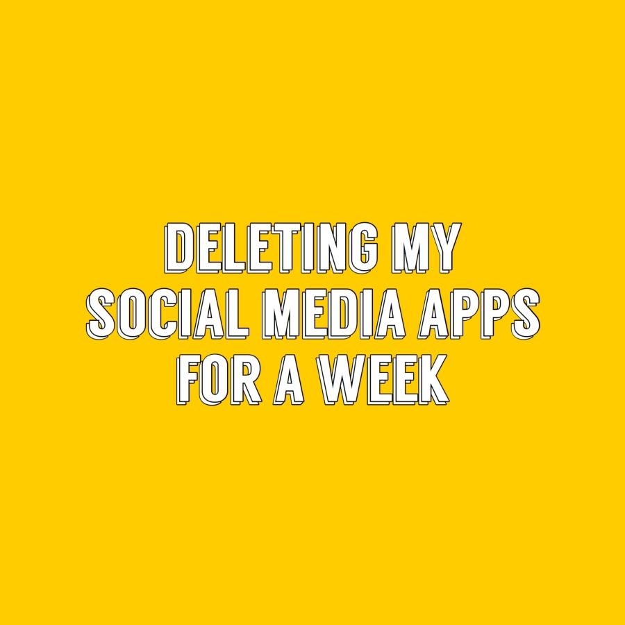 I've deleted my social media apps!